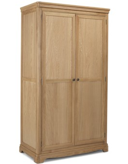 Kilmar Natural Oak Bedroom Full Hanging Double Wardrobe