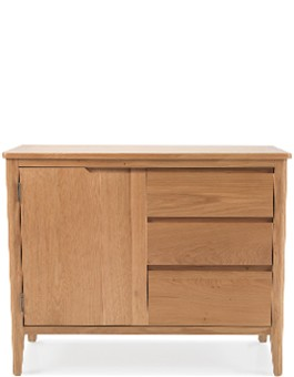 Eklund Oak Small Sideboard with Drawers