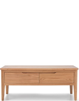 Eklund Oak Coffee Table with 4 Drawers