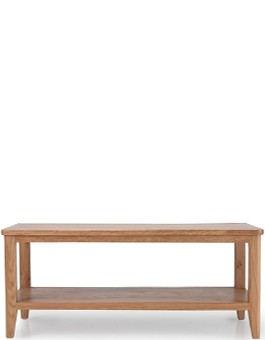 Eklund Oak Coffee Table with Shelf