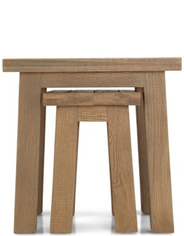 Holloway Rough Sawn Oak Nest Of 2 Table