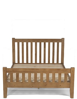 "Rustic Oak Double Bed (4' 6"")"