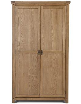 Rustic Oak Full Hanging Double Wardrobe