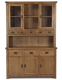 Rustic Oak Large Dresser