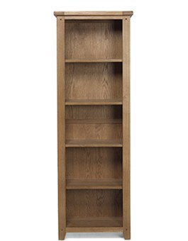 Rustic Oak Tall Slim Bookcase