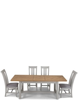 Aldington Painted Ext Dining Table with 4 Chairs