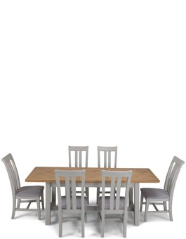 Aldington Painted Ext Dining Table with 6 Chairs