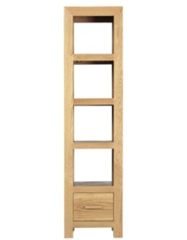 Cube Solid Oak Slim Jim Bookcase