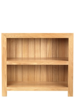 Cube Oak Low Bookcase