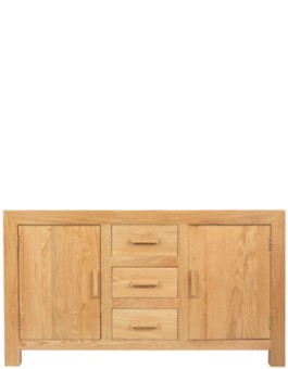 Cube Solid Oak Large Sideboard