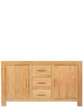 Cube Solid Oak Large Sideboard