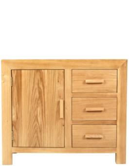 Cube Oak Small Sideboard