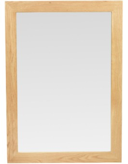 Cube Oak Large Mirror