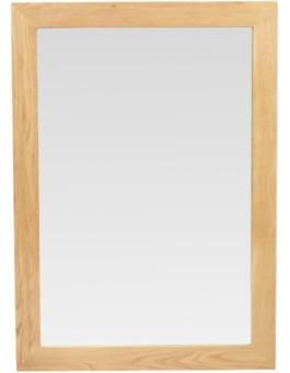 Cube Oak Large Mirror