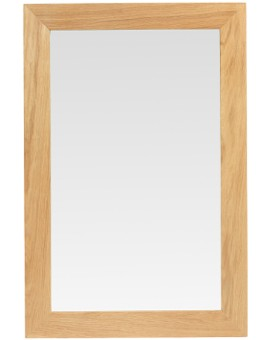 Cube Oak Small Mirror