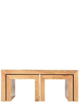 Cube Solid Oak Long John Nest Coffee Table
