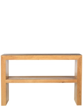 Cube Oak Console Table