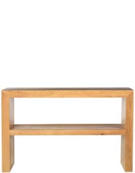 Cube Oak Console Table