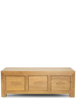 Cube Oak 6 Drawer Coffee Trunk