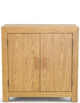 Cube Oak Storage Cabinet