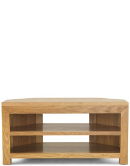 Cube Oak Open Corner TV Unit