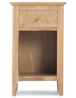 Hayman Oak Small Bedside Cabinet with Drawer
