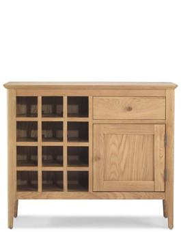 Hayman Oak Winerack Sideboard