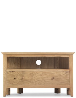 Hayman Oak Corner TV Unit with Drawers