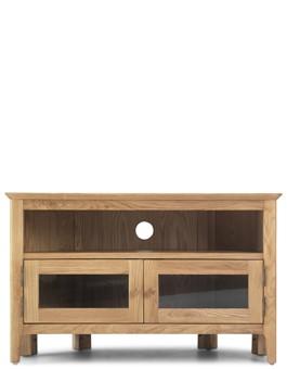 Hayman Oak Corner TV Unit with Doors
