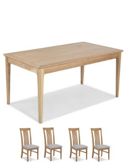 Hayman Oak 160cm Dining Table and 6 Chairs