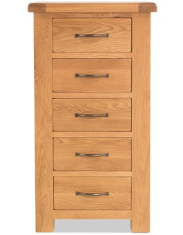 Marton Oak 5 Drawer Chest