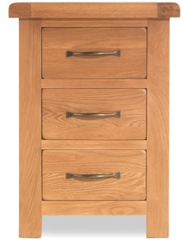 Marton Oak 3 Drawer Bedside