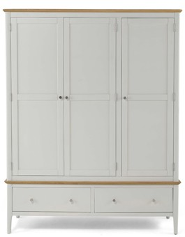 Merideth Painted Triple Wardrobe
