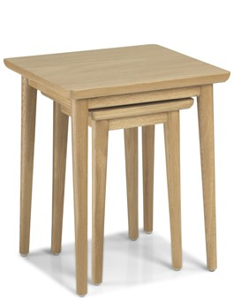 Skiena Oak Nest Of 2 Table