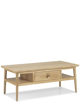Skiena Oak Coffee Table With Drawer