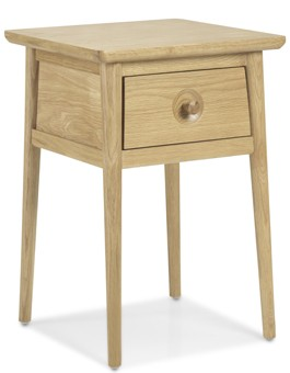 Skiena Oak Lamp Table With Drawer