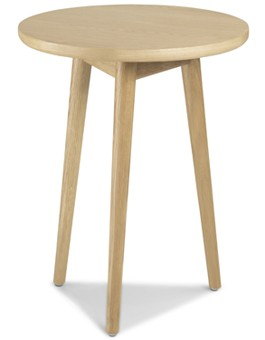 Skiena Oak Circular Lamp Table