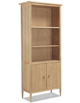 Skiena Oak Large Bookcase With  Doors