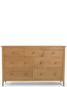 Kassay Oak 3 over 4 Chest of Drawers