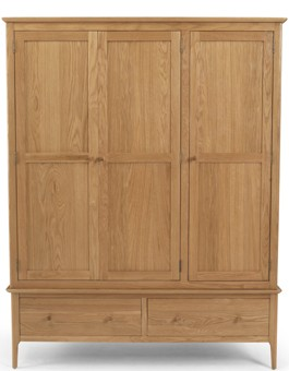 Kassay Oak Triple Wardrobe