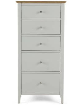 Meredith Painted 5 Drawer Tall Chest Of Drawer