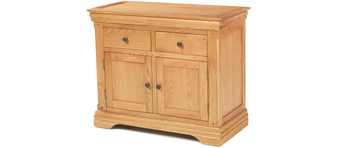 Constance Oak Small Sideboard Angle