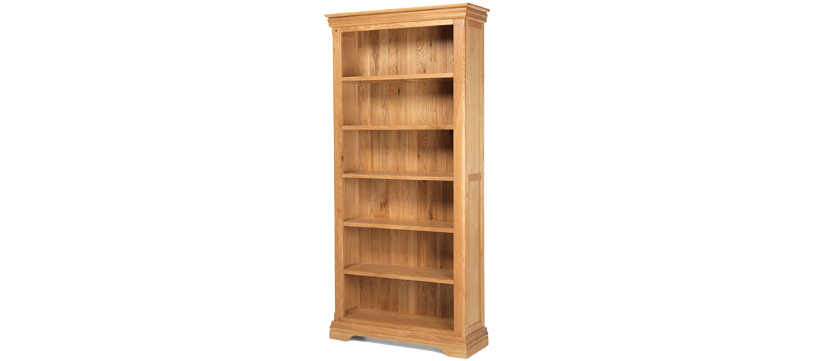 Constance Oak Tall Bookcase Angle