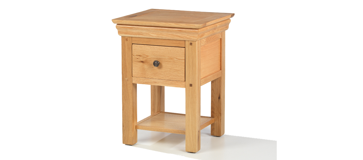 Constance Oak Lamp Table Angle