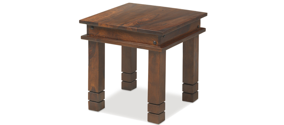 Jali Sheesham 45 Cm Chunky Coffee Table Quercus Living