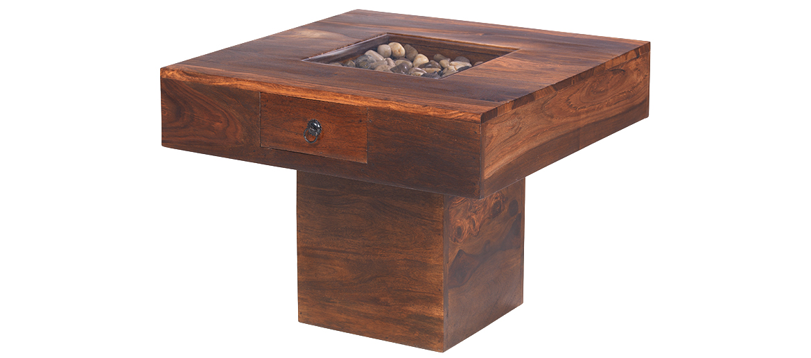 Jali Sheesham Small Pebble Coffee Table Quercus Living