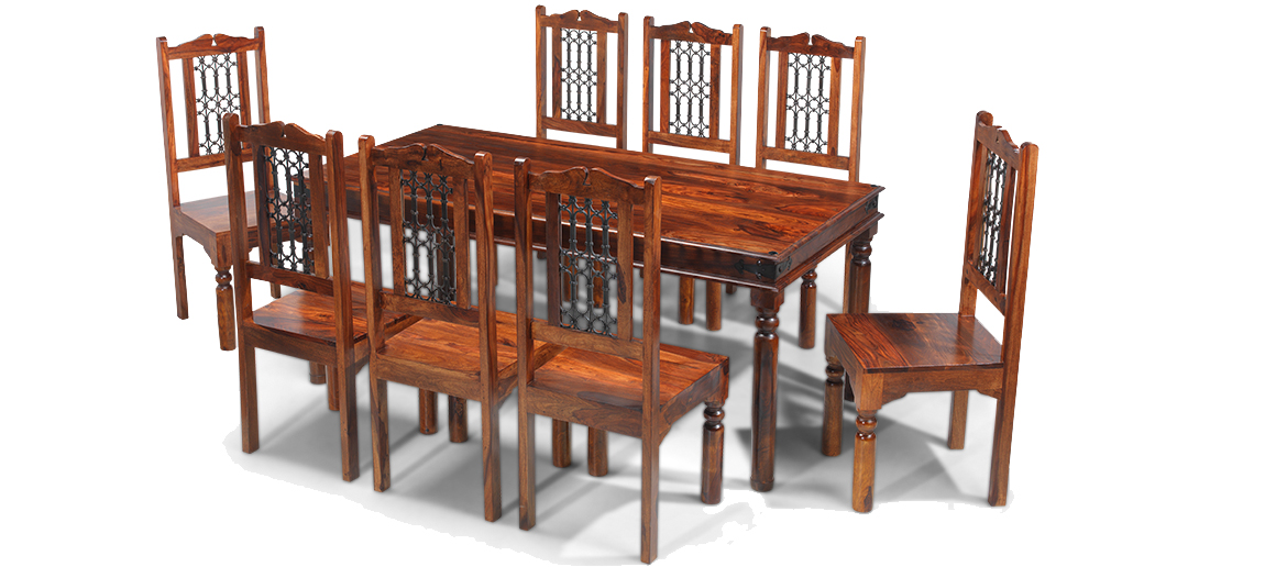 Colonial Style Table Will Make Quite The Statement In A Larger Dining Room Seating Eight And Made From Dark Durable Indian Sheesham Wood