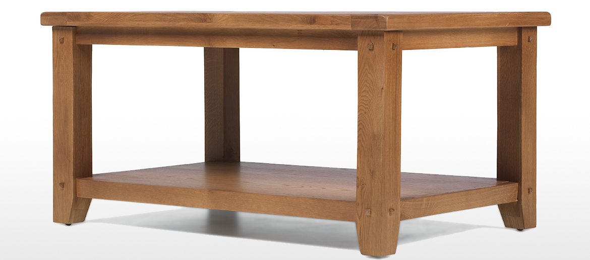Rustic Oak Open Coffee Table Quercus Living