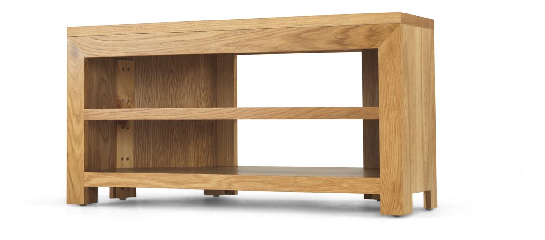 Cube Oak Open Corner Tv Unit Quercus Living