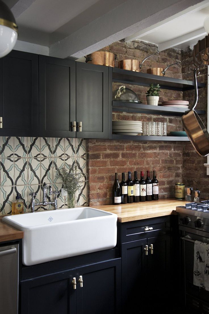 Encaustic tiles in the kitchen